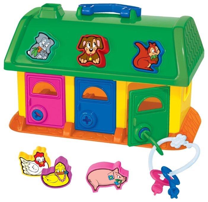 Զարգացնող խաղ տնակ դռներով  '' Полесье ''