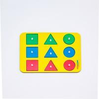 Զարգացնող փայտե խաղալիք՝ մոնտեսորի, ձև, գույներ 1