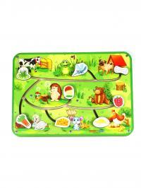 Մոտորիկան զարգացնող փայտե խաղալիք՝ լաբիրինթ զույգ, կենդանիներ 3