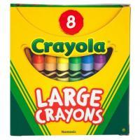 """լվացվող 8 մեծ գունավոր յուղամատիտներ """" Crayola """""""